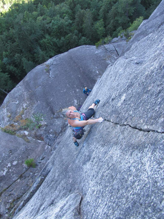 Sweet splitter. Crux pitch of Chicken Hawk 5.11c
